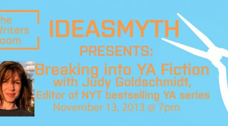 Join Us for Our 11/13 Fall Writing Seminar: Breaking into YA Fiction with Judy Goldschmidt