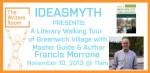 11/10 Literary Walking Tour of Greenwich Village with Francis Morrone