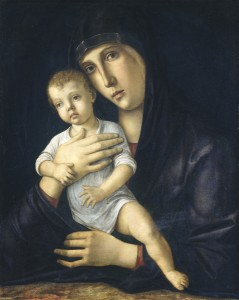 Parenting back in the day. Painting: Giovanni Bellini, Madonna and Child, c. 1480/85. Oil on panel, 53.7 x 42.5 cm (21 1/8 x 16 3/4 in.) National Gallery of Art, Washington, DC, Samuel H. Kress Collection