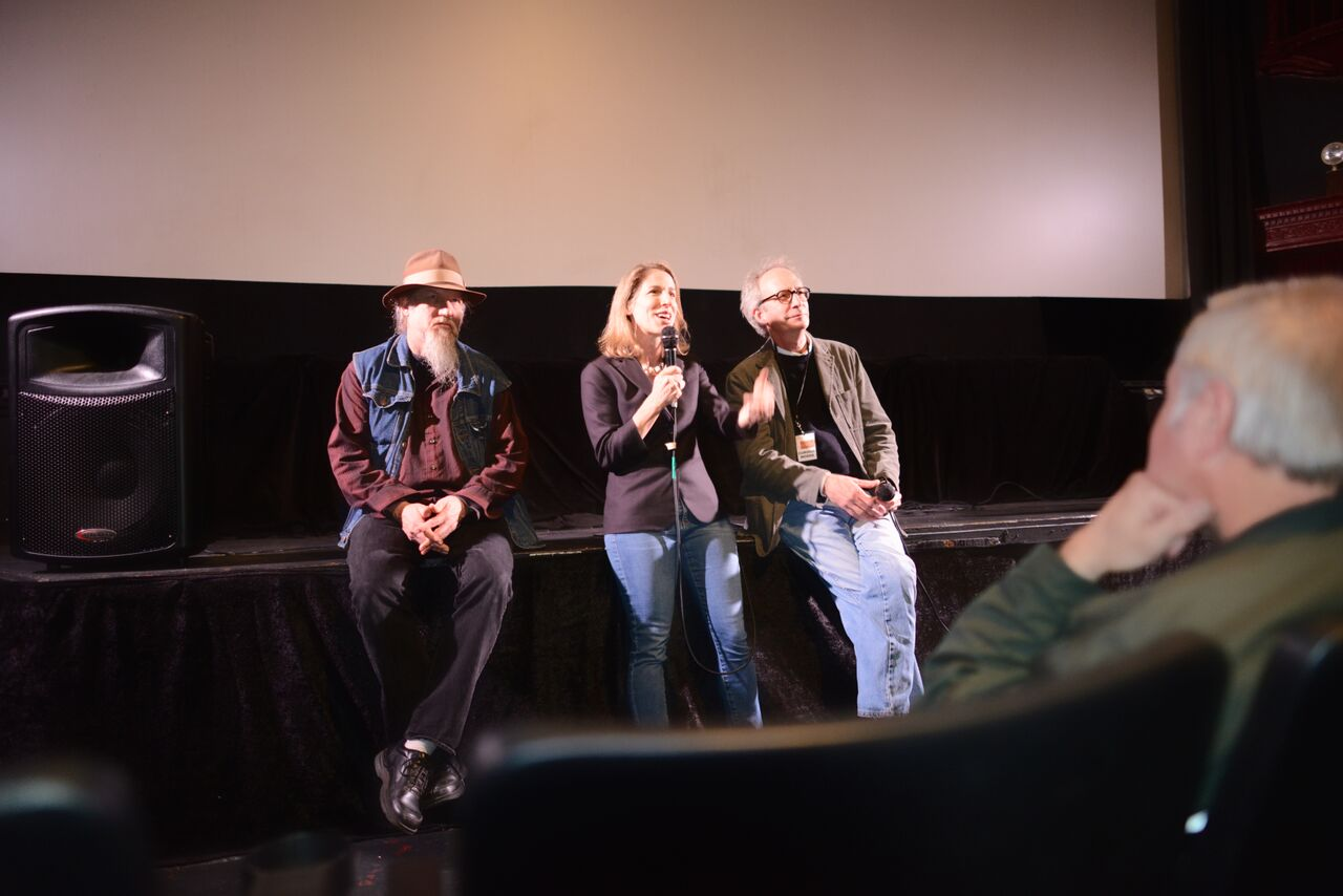 Olympia Stone does a Q&A with David Beck and Bill Noertker at the San Francisco Film Festival